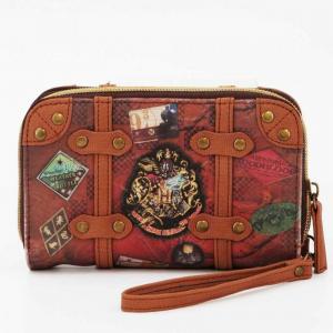HARRY POTTER portafoglio in ecopelle patta con automatico e zip per gli spicci