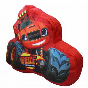 BLAZE cuscino sagomato imbottito rosso stampato dimensioni 23X35 cm