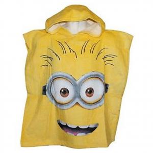 MINIONS poncho giallo da bambino in spugna taglia unica da bambino/a