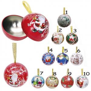 Pallina albero di Natale in alluminio, contenitore porta soldi o  oggetti dm 6cm