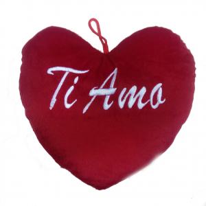 AMORE cuscino cuore peluches TI AMO da appendere idea regalo 35cm SAN VALENTINO