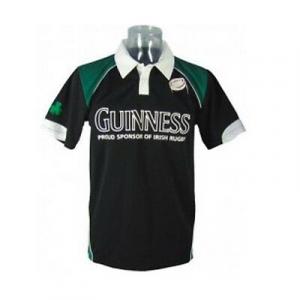GUINNESS t-shirt polo maglietta manica corta nera e verde sintetica varie taglie