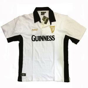 GUINNESS t-shirt polo maglietta manica corta in cotone bianco varie taglie adult