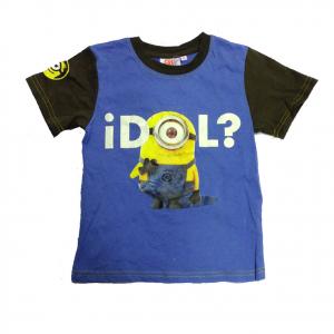 MINIONS t-shirt maglietta bicolore stampata in 100% cotone varie taglie da bambi