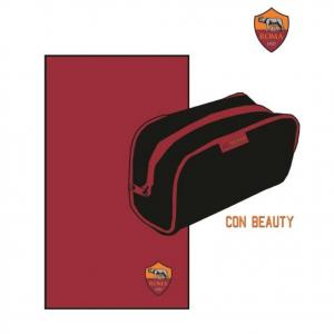ROMA beauty case+telo sport palestra in microfibra 50x100 cm prodotto ufficiale