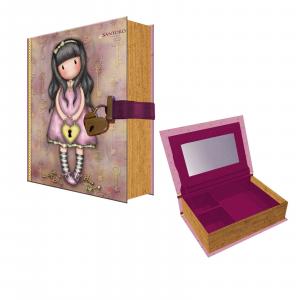 SANTORO GORJUSS porta gioie con lucchetto the secret Dim.i 20x14x4,5 cm circa