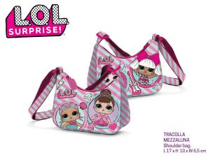 LOL Surprise borsa tracolla tracolla mezza luna doppia faccia Dim. 17x10x6,5