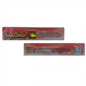 Righello scuola in plastica flessibile piatto segno zodiacale SAGITTARIO 20 cm