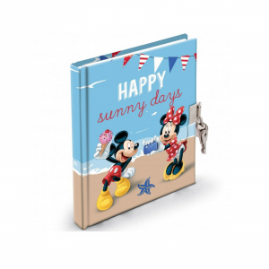 Topolino e Minnie diario segreto con lucchetto idea reagalo 13x18cm