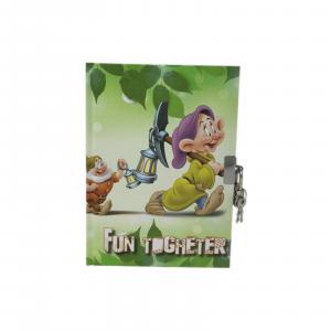 Disney diario segreto con lucchetto 7 nani Cucciolo idea reagalo 13x17,5cm circa