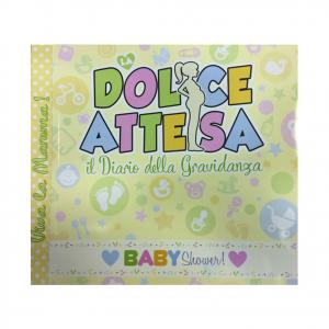 NASCITA BABY SHOWER diario della gravidanza DOLCE ATTESA 23x21 cm idea regalo