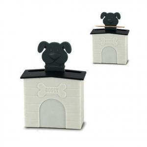 Porta stuzzicadenti cuccia cane in ABS PLASTIC articolo da regalo 11x8,2x3,3 cm