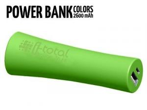 Power bank mobile 2600 mAh disponibile nero-bianco-verde mela-fucsia-viola