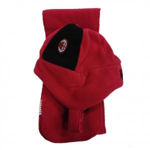 MILAN set due pezzi sciarpa+ cappello in morbido e caldo pile taglia 6/24 mesi