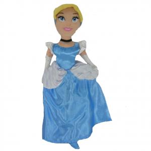 CENERENTOLA  peluches morbido con vestito in raso azzurro e bianco 28 cm