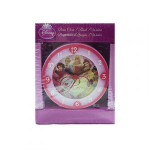 PRINCIPESSE sveglia rosa chiaro e fucsia in plastica 8x8 cm da bambina