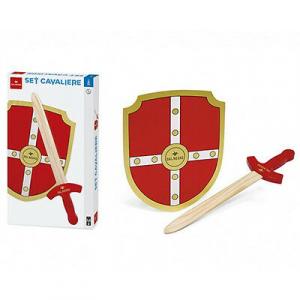 Set da cavaliere spada+scudo in legno colorato Dal Negro
