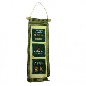 Porta oggetti vintage da cucina da appendere LA FAMIGLIA INSEGNA ...50X16,5 cm
