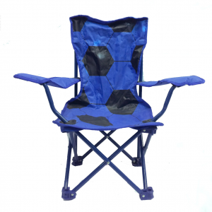 Sedia richiudibile compatta comoda da viaggio/campeggio blu con pallone stampato