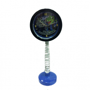 Orologio da tavolo con molla nero blu smontabile altezza 40 cm diametro 15 cm