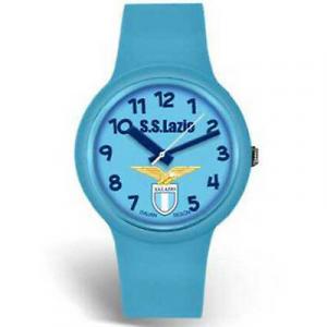 Orologio LAZIO polso in silicone celeste adulto con scatola regalo dim 4,2 cm