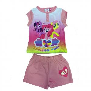 Pigiama MY LITTLE PONY rosa chiaro t-shirt + pantaloncino corto in cotone bambin