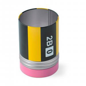 Porta matite Crayon metallo con scomparto per graffette