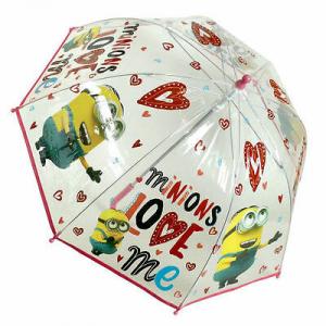 Ombrello bimba MINIONS diametro 70 cm lunghezza 45cm