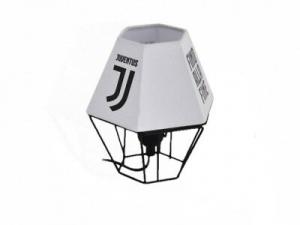 Lampada da tavolo Juve colore bianco con logo stampato