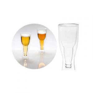 Bicchieri Birra gravity set 2 pezzi idea regalo colore trasparente idea regalo