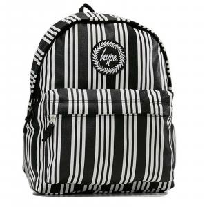 Zaino Hype Backpack Vinyl Stripe Justhype Scuola Nero Bianco dim. 40x38x12 cm