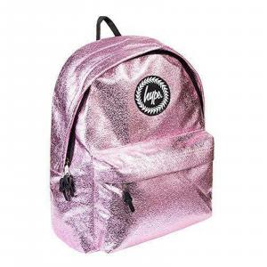 Zaino crinkle foil Backpack Zaino Moda Zaino scuola Justhype rosa