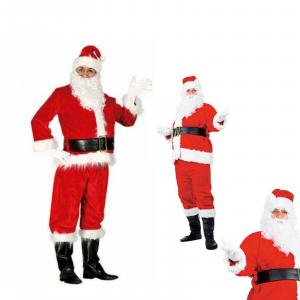 Natale vestito Babbo Natale Santa Claus lusso taglia L corrispondente 52/54