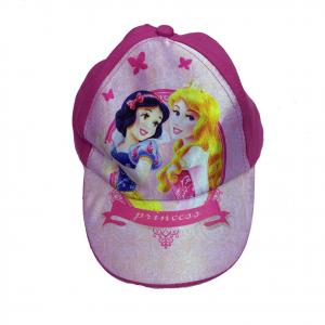 PRINCIPESSE BIANCANEVE AURORA cappello con visiera in 100% morbido cotone fucsia