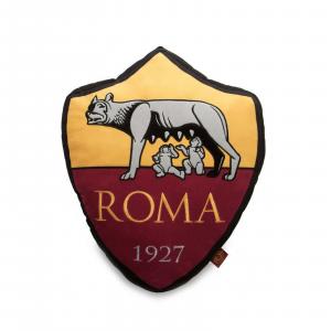 Cuscino sagomato AS Roma prodotto ufficiale stemma Roma dim. 35x42x10
