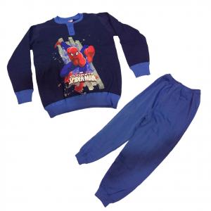 SPIDERMAN UOMO RAGNO pigiama serafino blu lungo bambino taglia 5/6 anni bambino