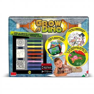 Gioco bambino da tavolo interattivo con timbri disegni pennarelli GROW A DINO