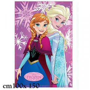 PLAID MORBIDO FROZEN 100X150 CM bambina disney idea regalo