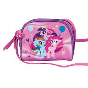 MY LITTLE PONY borsa tracolla rosa chiaro con stampa e glitter 17x15x7 cm