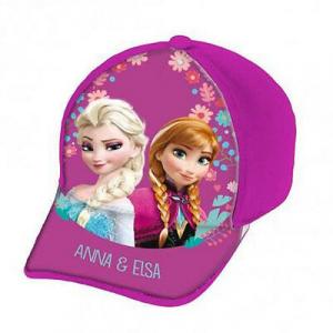 FROZEN cappello con visiera fucsia con stampa effetto lucido da bambina