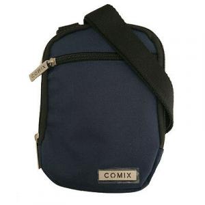 Tracollina COMIX doppia tasca con zip blu in cordura pesante 19,5x14 cm