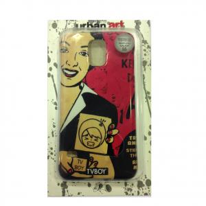COVER mascherina SAMSUNG GALAXY S5 fucsia disegno vintage in silicone TPU