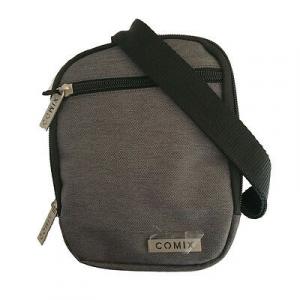 Tracollina COMIX doppia tasca con zip grigio in cordura pesante 19,5x14 cm