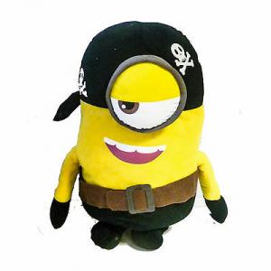 Peluche MINIONS 38cm Pirata con occhi in stoffa 3D