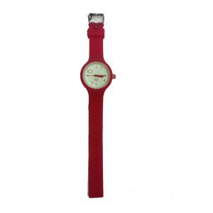 Orologio polso H2X acciaio e silicone rosso intercambiabili da donna