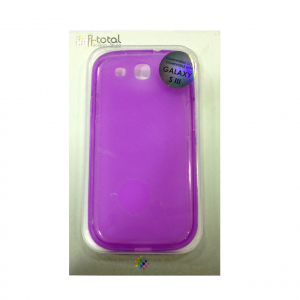 COVER mascherina SAMSUNG GALAXY S3 viola in silicone TPU I-TOTAL