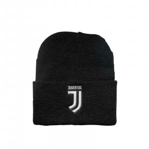 CAPPELLO Juventus NERO prod.uff.con LOGO RICAMATO INVERNALE IDEA REGALO