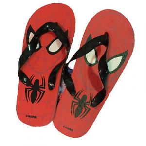 Infradito mare piscina SPIDERMAN UOMO RAGNO rosse occhi da bambino varie taglie