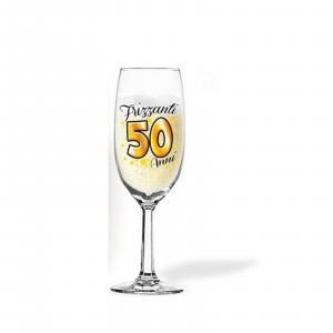 50 ANNI flute per brindisi per COMPLEANNO party