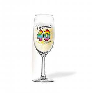 40 ANNI flute per brindisi per COMPLEANNO party